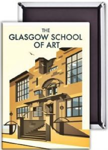 Glasgow School Of Art steel fridge magnet   (se)